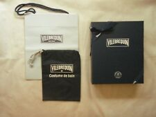 Vilebrequin box for swimwear with travel pouch and ribbon and bag empty