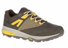 Merrell Mens Zion Low Waterproof Hiking Shoe Size 11 M Breathable Brown/Yellow