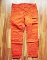 @ edc by ESPRIT @ Hose orange Gr. 36 L 28 Size S klassisch Stoffhose