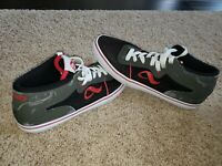 Adio Mens Size 10 Canvas High Top Skateboard Shoes ADIO - Gray Red Black