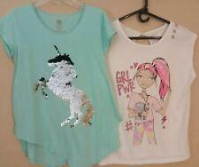 Casual Shirts Unicorn Sequins Flip Preowned Sz 14.5-16.5 Plus Girl Power NWT XXL