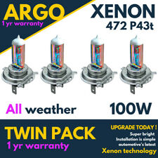 4x H4 Xenon 100w White All Weather 472 Headlight Bulbs Fog light Hid P43t 12v