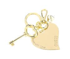 GUESS Keychain Herz Schlüsselanhänger Goldfarben, Damen Anhänger Women Keyring