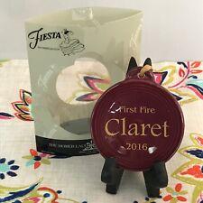 Fiestaware Claret First Fire Ornament Fiesta 2016 Christmas Holiday NIB