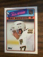 1988-89 Topps Sticker Insert #5  Ray Bourque Boston Bruins  NrMt