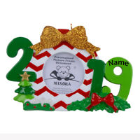 2019 Christmas Decor Photo Frame Personalized Ornament Xmas Gift With Gift Box
