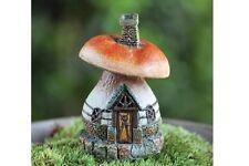 Micro Mini Mushroom House Miniature Fairy Garden Gnome by Fiddlehead  GO 17341