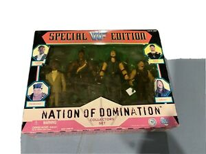 Nation of Domination Jakks Pacific WWE WWF Wrestling Figure Box Set Farooq Savio