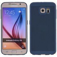 Samsung Galaxy S6 Hard-Case Handyhülle Schutzhülle Cover Bumper Schale Blau Matt