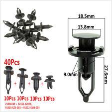 40pcs Car Body/Bumper Plastic Push Pin Rivet Retainer Moulding Clip Assortments