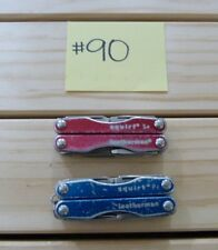LEATHERMAN SQUIRT P4 & SQUIRT S4 FOLDING MULTI TOOL KNIVES USED -QK#90
