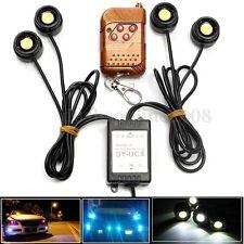 4 LED 12W 12V Urgence Lumière Stroboscope DRL Télécommande Strobe lampe Voiture