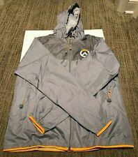 Overwatch Logo Windbreaker jacket Grey and Yellow size XL
