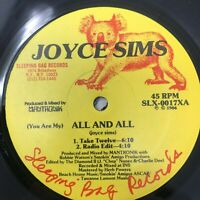 """Joyce Sims All And All Vinyl Record 80s Latin Freestyle Electro 12"""""""
