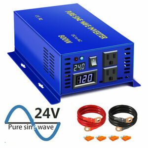 800w Pure Sine Wave Power Inverter 24 volt dc to 110V 120V ac Peak 1600W