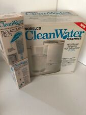 Norelco Clean Water Machine Vtg 48oz Filter Filtering 1982 with two new filters