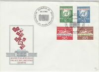 Switzerland 1962 ONU Museum Palace of Nations Slogan FDC Stamps Cover Ref 25404