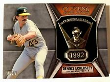 2013 Topps Dennis Eckersley Cy Young Award Winner Trophy Relic Oakland Athletic!