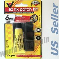 BIKE ATV Flat TIRE Puncture Repair Kit Bicycle Inner Tube EZ Patch Rubber Cement