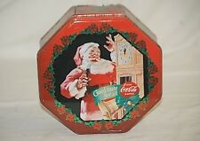 Classic Style Advertising Ad Drink Coca Cola Coke Litho Tin Can Container w Lid