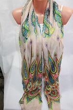SCHAL  TUCH Damenschal Mode Schal     Paisley  MUSTER  Lachs    114