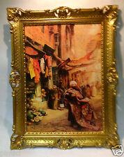 Peintures Tapis VENDEUR ORIENTAL IMAGE 90x70cm baroque Tableau à l'huile