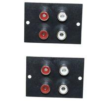 Lot de 2 Prise chassis embase RCA phono femelle fiche - 4 prises