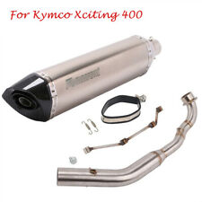 For Kymco Xciting 400 Motorcycle Full System Exhaust Muffler Tip Front Link Pipe