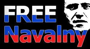 Free Alexei Navalny Russian opposition leader 15/8 cm 1+1 free Sticker No Putin!