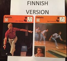 EARL ANTHONY - DICK WEBER 1977-78 FINNISH Sportscaster cards  -  Finland BOWLING