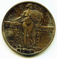 """Large 3 """" Novelty Medal/Coin/Coaster/Paperweight 1916 Standing Liberty Quarter"""