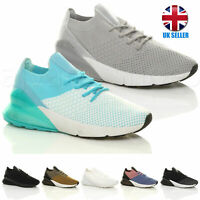 MENS LACE UP FLEXIBLE SPORTS GYM RUNNING TRAINERS SNEAKERS SHOES SIZE