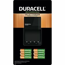 Duracell 90638473 Battery Charger with Rechargeable 6 AA and 4 AAA Batteries