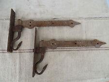 N8930 Sehr alte Türbänder ~ Schmiedeeisen ~ um 1780 ANTIK Beschläge Torbänder