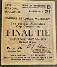 More details for newcastle utd v manchester city f.a. cup final match ticket 7/5/55 wembley.