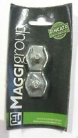 Maggi Group  2 Pz Morsetti Simplex  Acciaio Zincato 6 mm New Pronta consegna