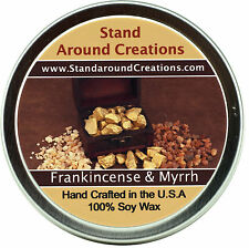 Premium 100% All Natural Soy Wax Candle - 4 oz Tin - Frankincense & Myrrh