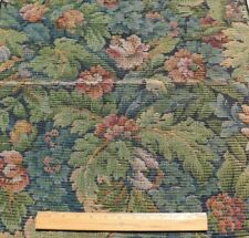 "Antique French c1920-30 Floral Cotton Tapestry Fabric~ Aubusson Style~26""X24.5"""