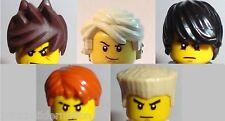 ☀NEW LEGO Set 5 MINIFIG HAIR Ninjago Ninja Cole Lloyd Jay Kai Zane LOT Parts mix