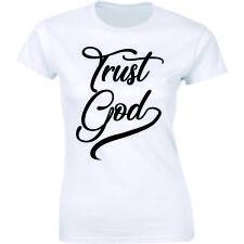 Trust God - Christian Religious Faith Positive Trust Belief God Women's T-shirt