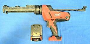 M18 18-Volt Lithium-Ion Cordless 10 oz. Caulk and Adhesive Gun w/ 2.0Ah Battery