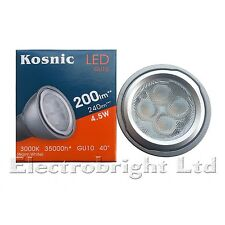 1x Kosnic Pro 4.5w watt LED GU10 Power Warm White Superbright spot bulb 270lm