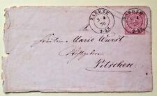 gelaufen 1870 von ZABRZE * Norddeutscher Postbezirk * Ein Groschen Post-Couvert