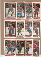 1990-91 OPC LOT OF 13 DIFF, MONTREAL CANADIENS, MINT FROM VENDING