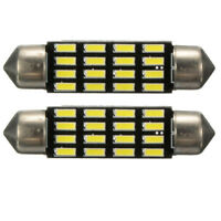2x Car Dome Canbus 4014 SMD 16 LED Bulb Light Interior Festoon Lamp 42mm Wh R6X4