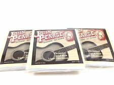 John Pearse Guitar Strings 3 pack  Acoustic Silk Wound Phos Bronze #610LM