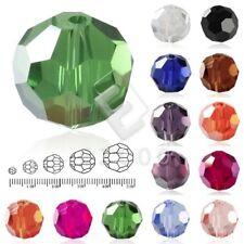 100 Stk. 6mm Kristall Rondelle Glas Perlen Beads Schmuck basteln 32 Farben