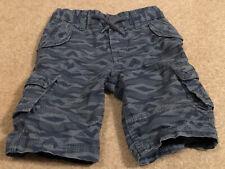 Oshkosh 2T Toddler Boys Drawstring Blue/Gray Cargo Shorts