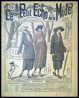 Le Petit Echo de la Mode année 1921, Ancien magazine Français N°10
