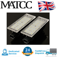 2x Error Free LED Number License Plate Lights For Renault Clio Laguna Megane